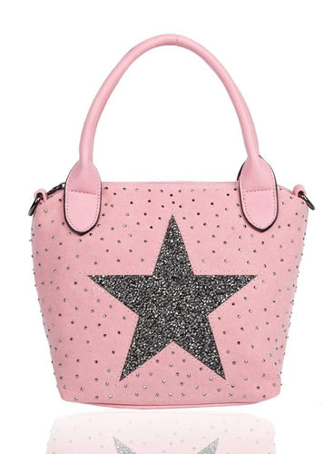 Small Star Tote Bag Pink