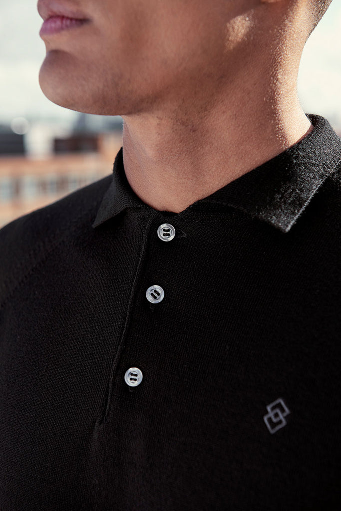 Blackmoor Knitted Merino Polo