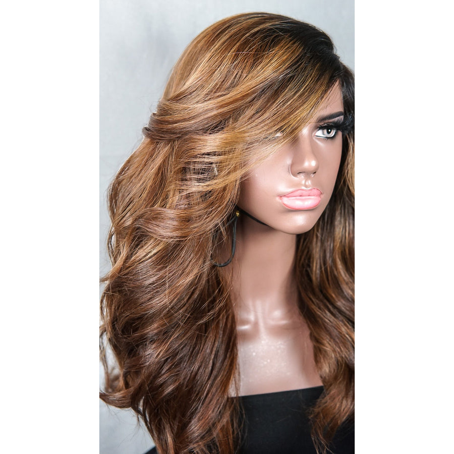 """New Amber"" 16-18in Custom Ultra Thin Lace Front"