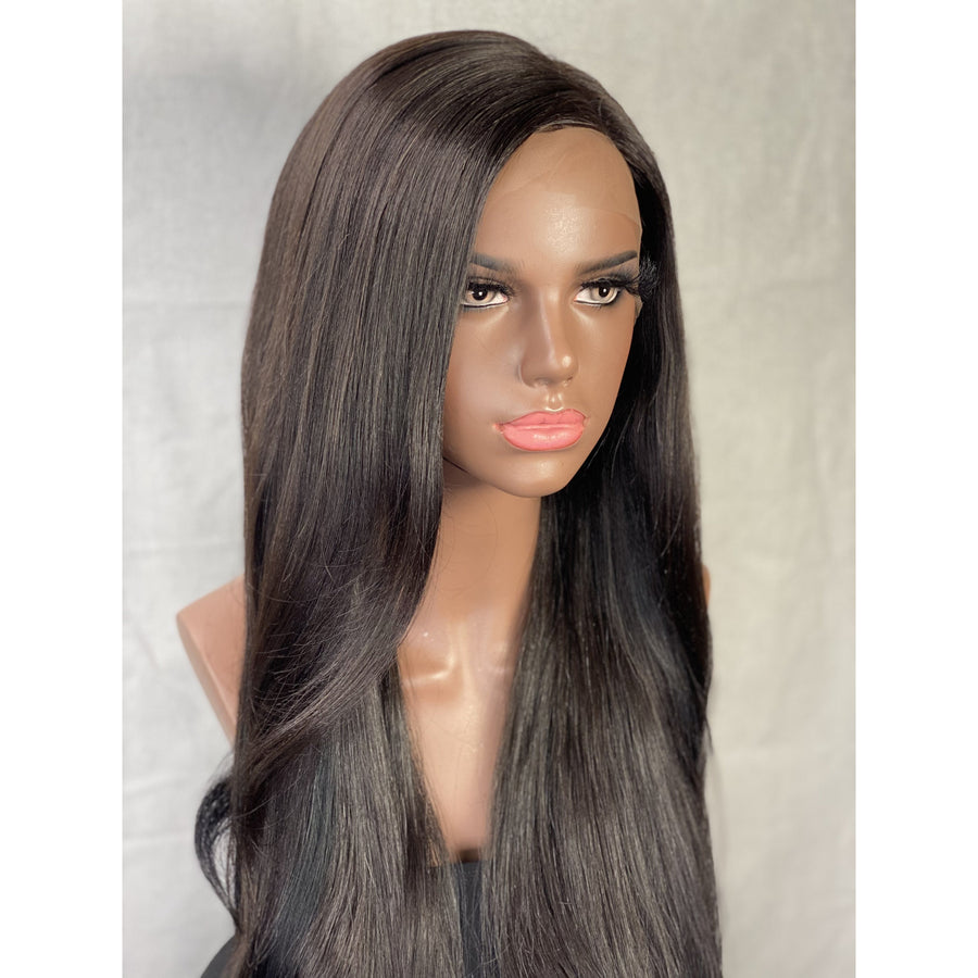 """New"" Dalila Custom 22in South American Ultra Thin Lace Front Wig"