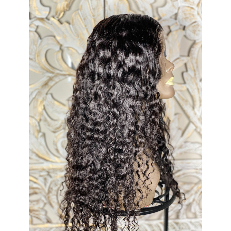 Curly Wavy Full Ventilation Custom Thin Lace Wig 20in-22in