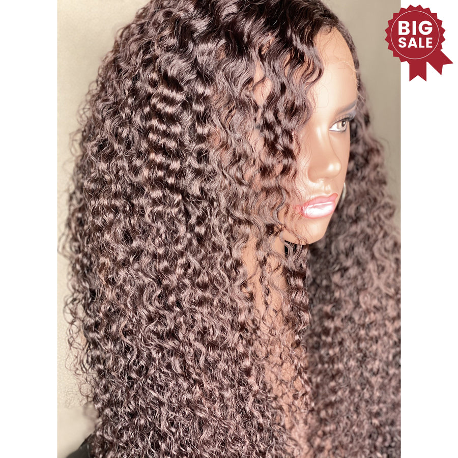 New Custom HD/ Ultra Thin Lace Front  Big Curly 24in