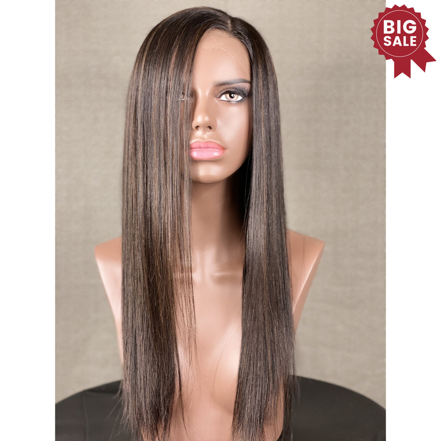 "New""Gabby"" 20in Custom HD Ultra Thin Full Ventilation Wig with Highlights"