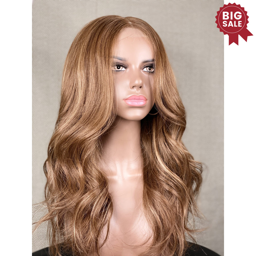 """ New""Ultra Thin Soft light Brown with blonde Soft lights"