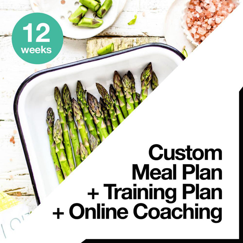 12 Week Custom Meal Plan + Training Plan + Online Coaching