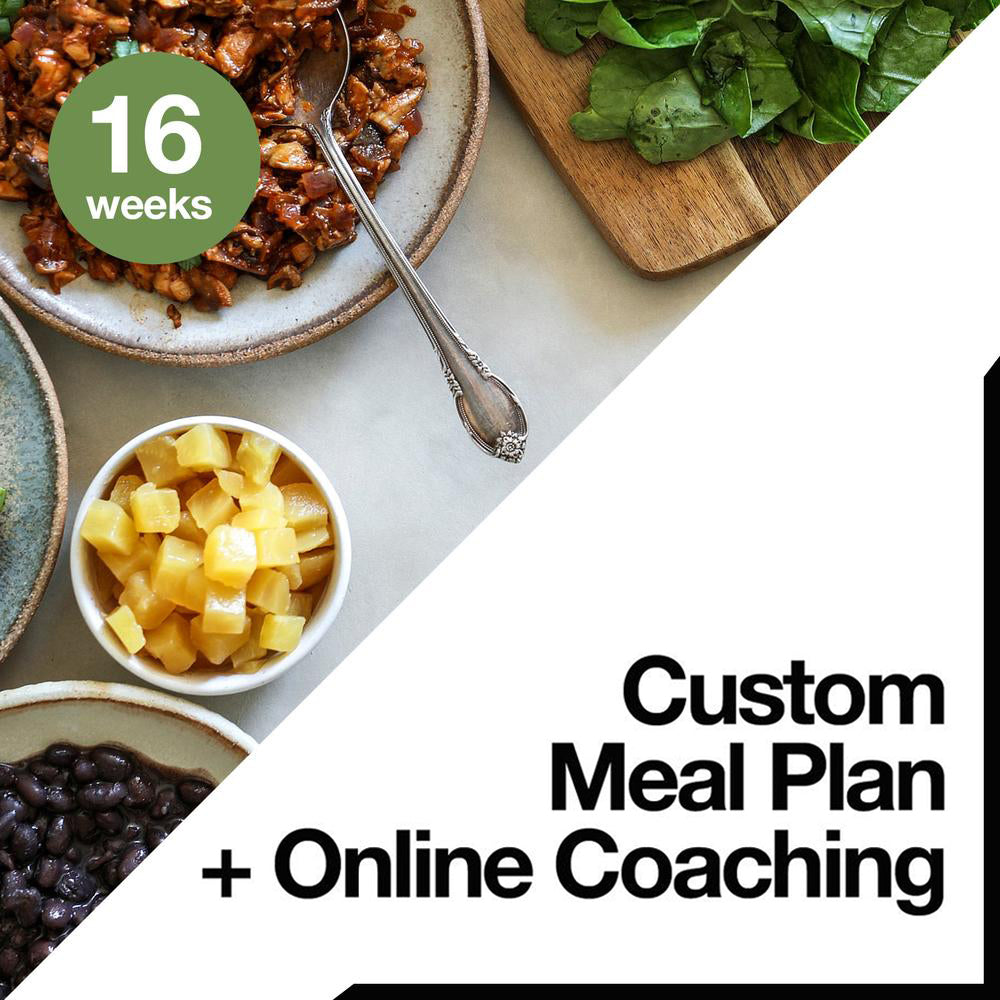 16 Week Custom Meal Plan + Online Coaching