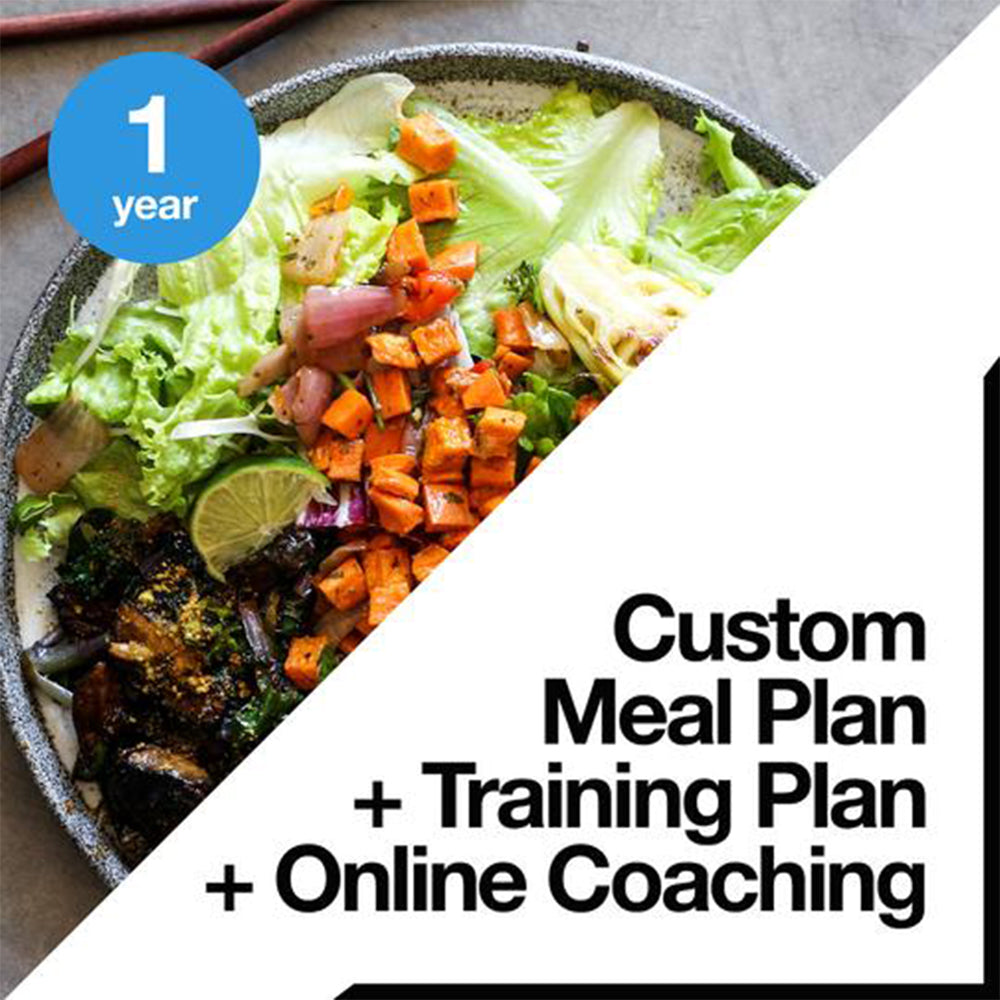 1 Year Custom Meal Plan + Training Plan + Online Coaching