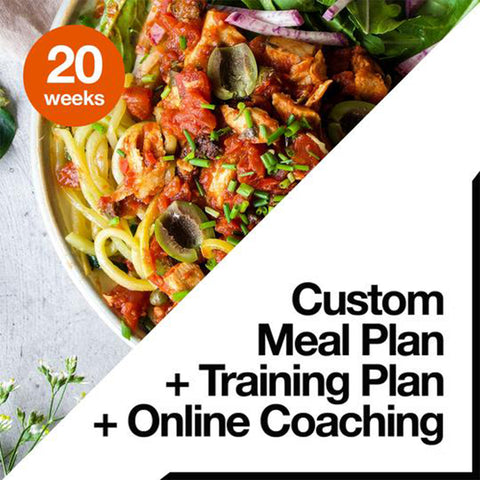 16 Week Custom Meal Plan + Custom Training Plan + Online Coaching
