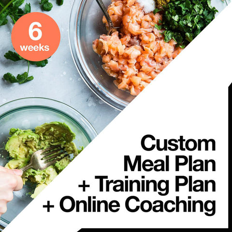 20 Week Custom Meal Plan + Custom Training Plan + Online Coaching