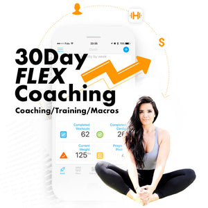 30 Day Flex Coaching: Customized Macros, Training + Online Coaching