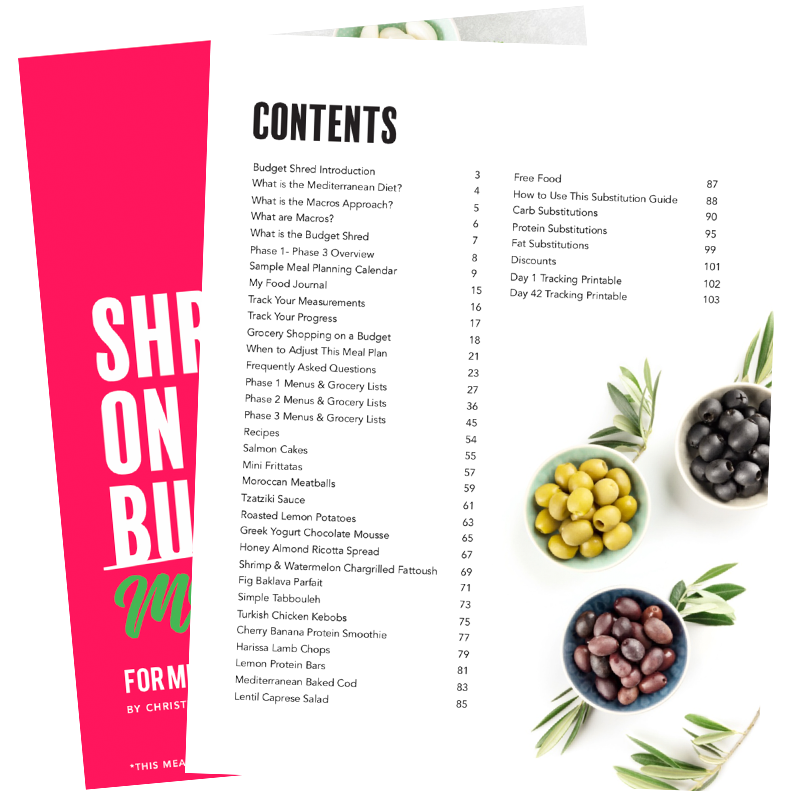 The 6WeekShred® - 6 Week Mediterranean Budget Shred for Women