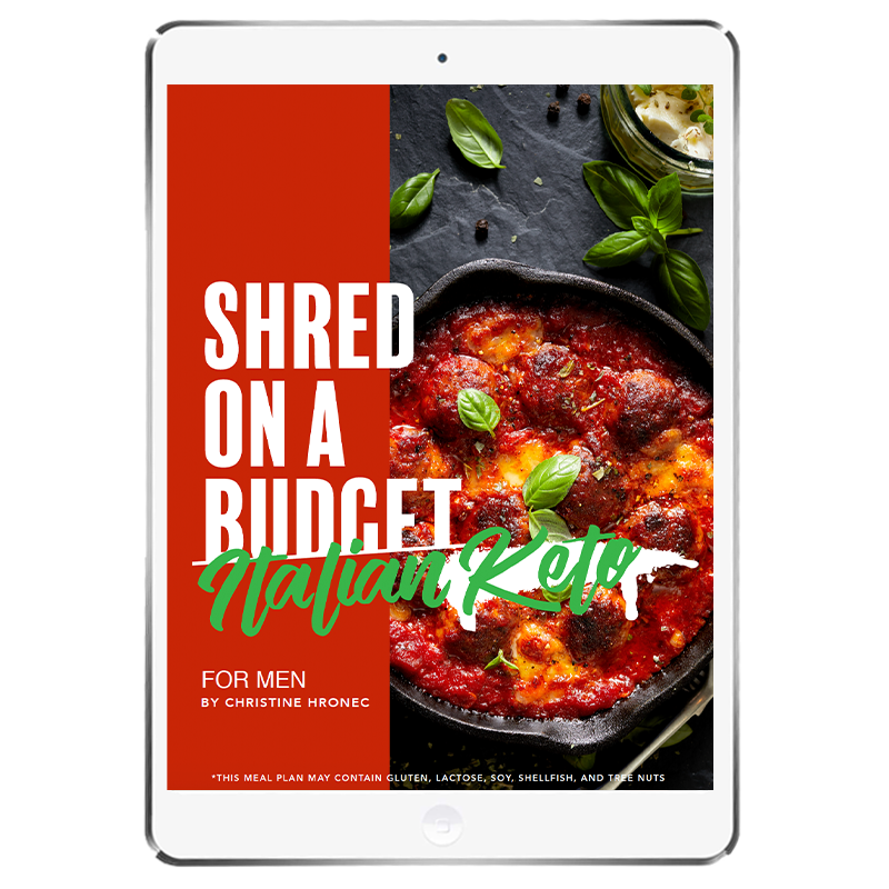 The 6WeekShred® - 6 Week Italian Keto Budget Shred for Men