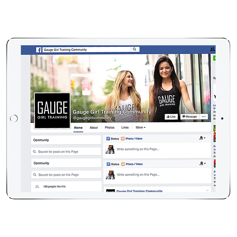 Team Gauge Girl Private Facebook Group- 30 Day Access Pass*