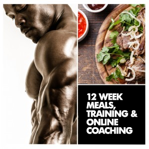 12 Week Men's Custom Meals, Training + Coaching