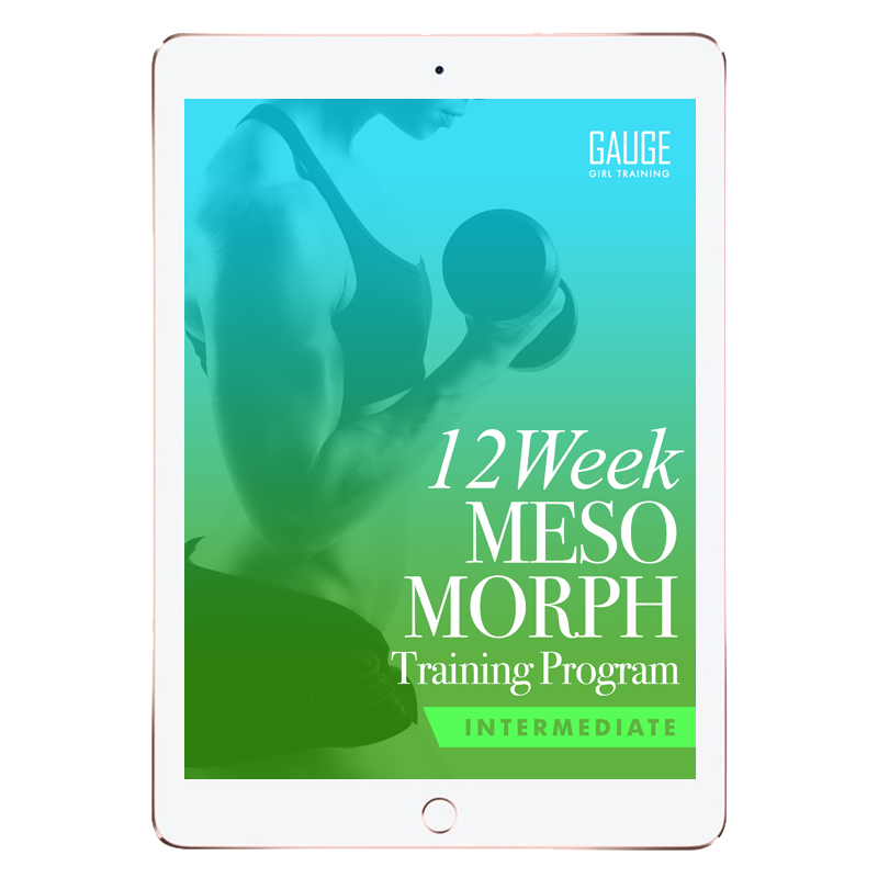 12 Week Mesomorph Intermediate Gym Training Plan