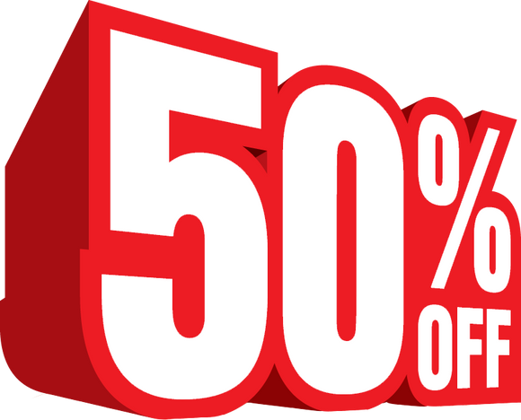 Super Sale - 50% Off Cards