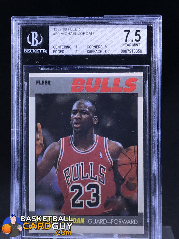 1987-88 Fleer #59 Michael Jordan BGS 7.5 - Basketball Cards