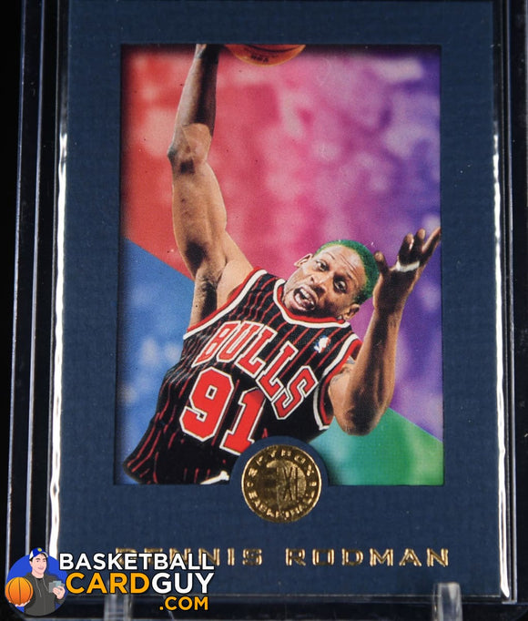 1995-96 E-XL #13 Dennis Rodman BLUE Parallel - Basketball Cards