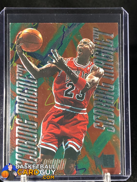 1995-96 Metal Scoring Magnets #4 Michael Jordan - Basketball Cards