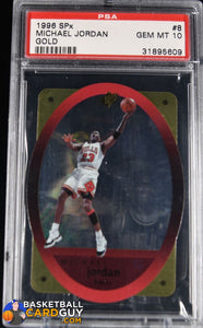 1996 SPx Gold #8 Michael Jordan GEM MINT PSA 10 - Basketball Cards