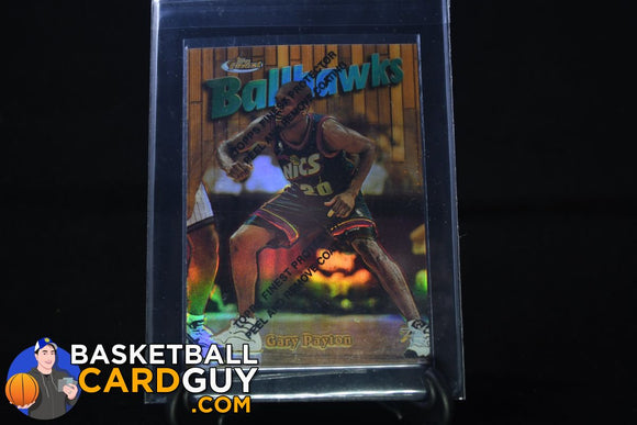 1997-98 Topps Finest Test Refractor Gary Payton - Basketball Cards