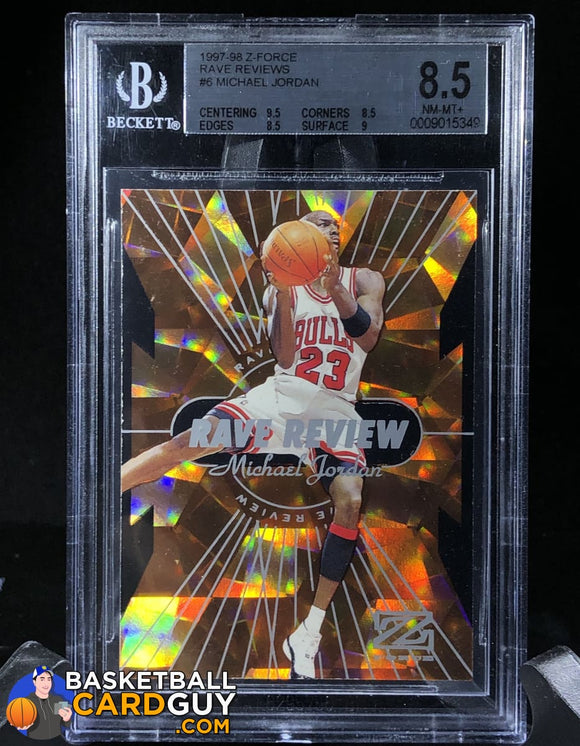 1997-98 Z-Force Rave Reviews #6 Michael Jordan BGS 8.5 - Basketball Cards