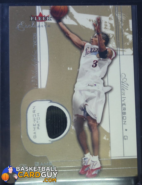 2001-02 Fleer Exclusive Game Exclusives Patches #2 Allen Iverson /25 - Basketball Cards