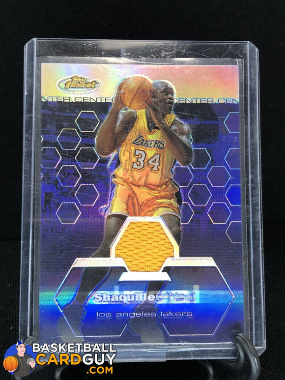 2002-03 Finest Refractors #147 Shaquille O'Neal JSY #/250 - Basketball Cards