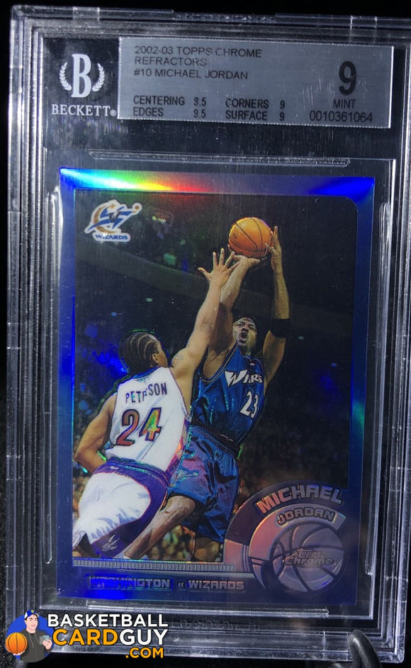 2002-03 Topps Chrome Refractors #10 Michael Jordan BGS 9 - Basketball Cards