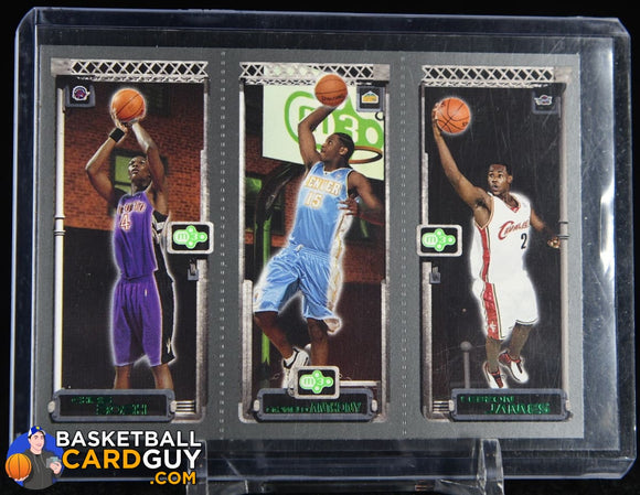 2003-04 Topps Rookie Matrix #BAJ Chris Bosh 114 RC/Carmelo Anthony 113 RC/LeBron James 111 RC basketball card, numbered, rookie card