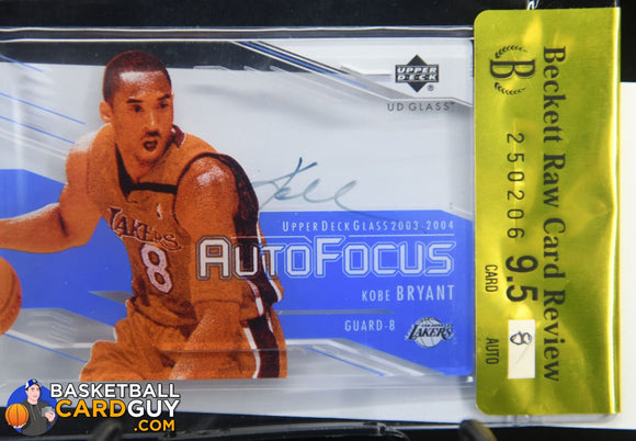 2003-04 UD Glass Auto Focus #KB Kobe Bryant SP BGS 9.5 - Basketball Cards
