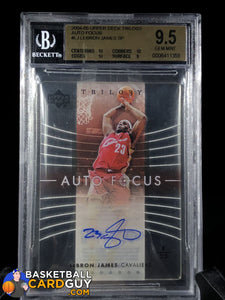 LeBron James 2004-05 Upper Deck Trilogy Auto Focus SP BGS 9.5 GEM MINT - Basketball Cards