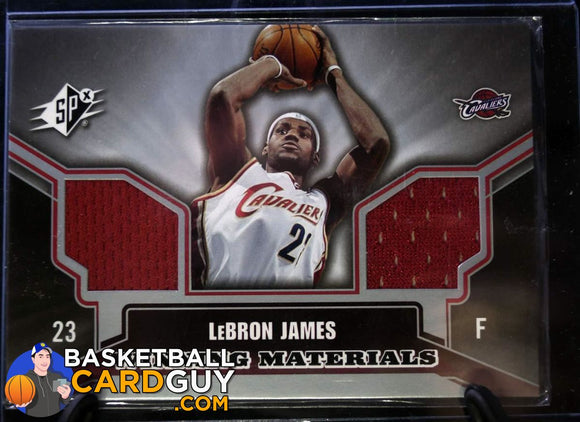 2005-06 SPx Winning Materials #LJ LeBron James - Basketball Cards