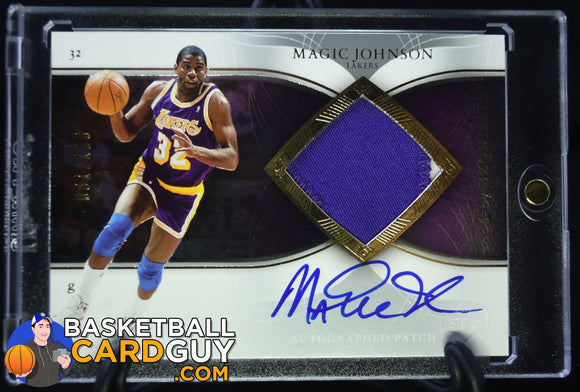 2006-07 Exquisite Collection Autographs Patches #APMA Magic Johnson - Basketball Cards