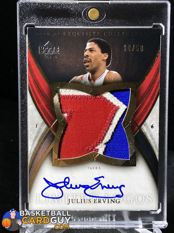 Julius Erving 2006-07 Exquisite Collection Limited Logos 10/50 - Basketball Cards