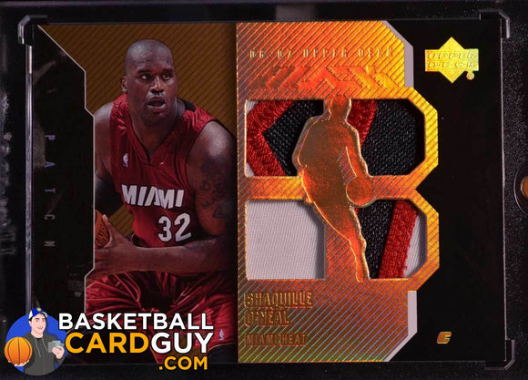 2006-07 UD Black Patches 25 #SO Shaquille O'Neal - Basketball Cards