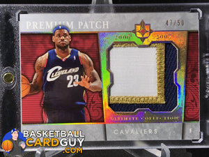2006-07 Ultimate Collection Premium Swatches Patch #PRLJ LeBron James - Basketball Cards