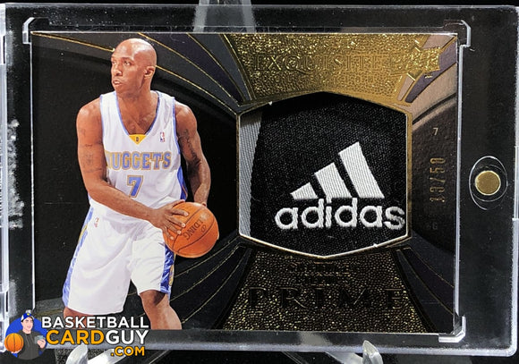 2008-09 Exquisite Collection Prime Chauncey Billups Adidas Laundry Logo Tag - Basketball Cards