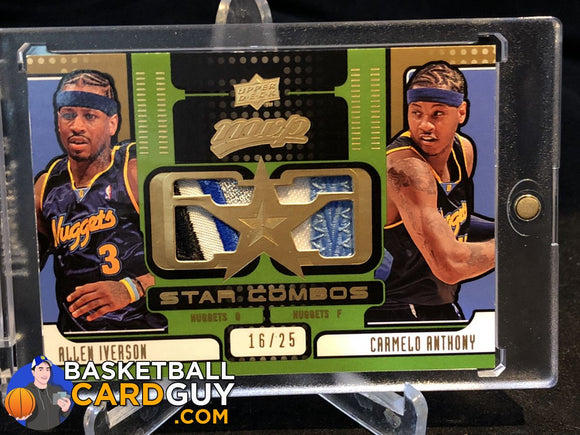 2008-09 Upper Deck MVP Star Combos Patches #SCIA Allen Iverson/Carmelo Anthony - Basketball Cards
