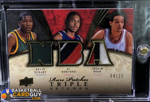 2008-09 Upper Deck Premier Rare Patch Triple #/15 Kevin Durant/Al Horford/Joakim Noah - Basketball Cards