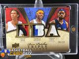 2008-09 Upper Deck Premier Rare Patch Triple Chris Bosh/Carmelo Anthony/LeBron James /10 - Basketball Cards