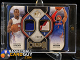 2009-10 SP Game Used Combo Patches #CPIS Allen Iverson/Rodney Stuckey - Basketball Cards