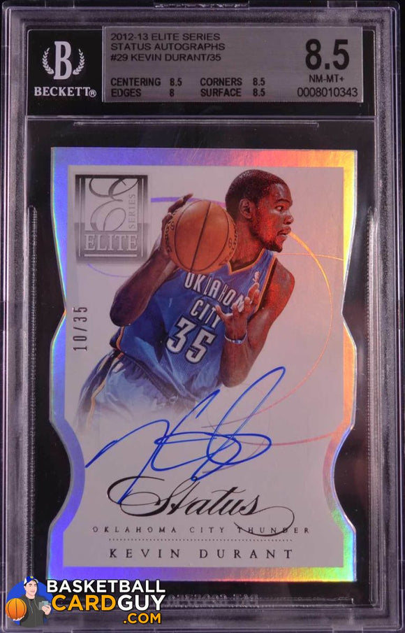 2012-13 Elite Series Status Autographs #29 Kevin Durant/35 - Basketball Cards
