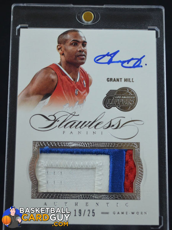 2012-13 Flawless Grant Hill Patches Autographs /25 - Basketball Cards