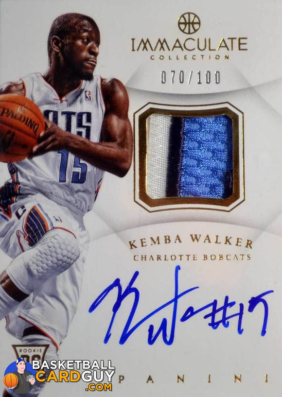 2012-13 Immaculate Collection #109 Kemba Walker JSY AU RC RPA - Basketball Cards