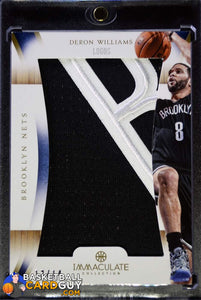 2012-13 Immaculate Collection Logos #DW Deron Williams/14 - Basketball Cards