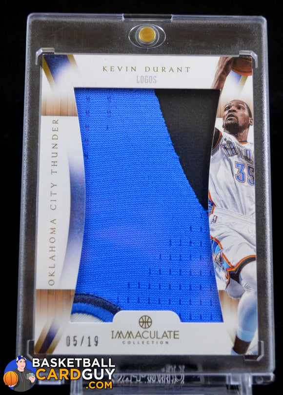 2012-13 Immaculate Collection Logos #KD Kevin Durant/19 - Basketball Cards