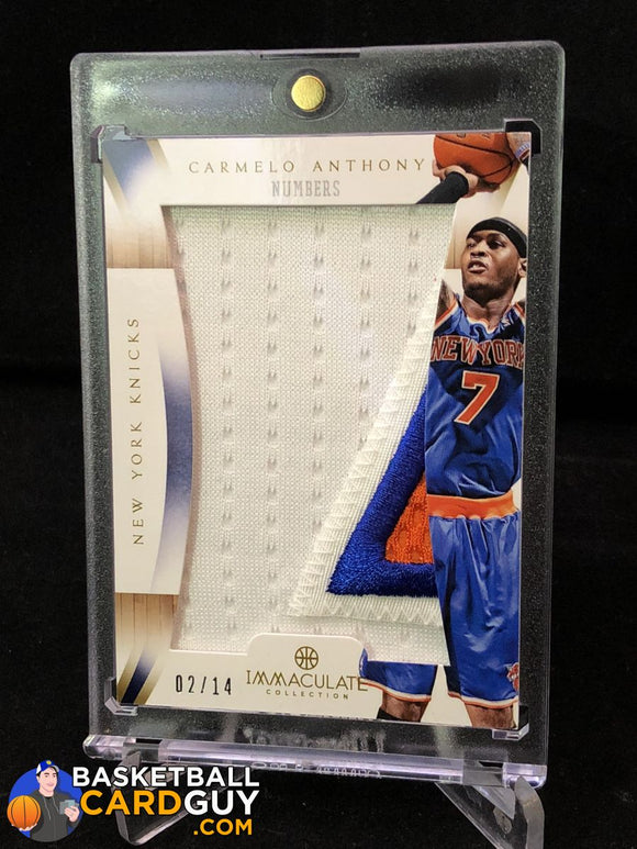 2012-13 Immaculate Collection Numbers Patches #CA Carmelo Anthony/14 - Basketball Cards