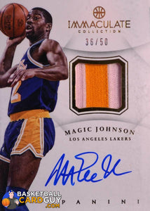 2012-13 Immaculate Collection Patch Autographs #MJ Magic Johnson - Basketball Cards