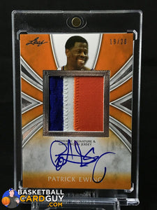 2012-13 Leaf Metal Patrick Ewing Patch Autograph Orange /20 - Basketball Cards